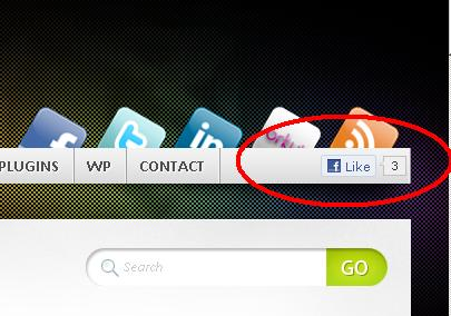 facebook like button to mystique nav