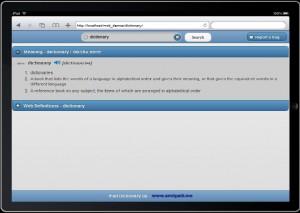 ipad dictionary app jquery mobile