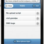 jquery mobile todo iphone ipad app